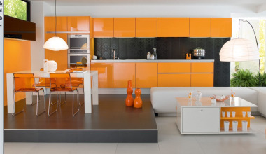 pretty-orange-kitchen-cabinet-ideas